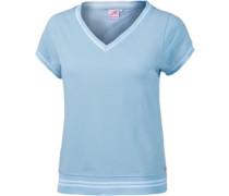 T-Shirt Damen blau / hellblau