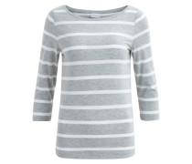 T-Shirt mit Streifen hellgrau / weiß