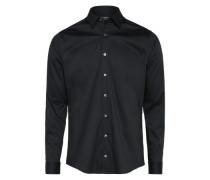 Casual Hemd 'brodie' schwarz