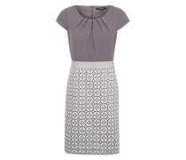Kleid mit gemustertem Rockteil blau