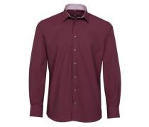 Langarm Hemd Modern FIT dunkelrot
