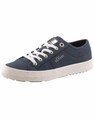 Sneaker nachtblau / silber