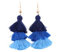 Ohrringe 'Tassel' blau