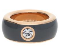 Damen Fingerring Edelstahl Grau/Rosegold Fancy Esrg12194E rosegold