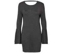 Glockenärmel-Kleid dunkelgrau