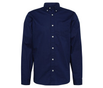 Hemd 'poplin Essentials' navy