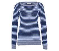 Damenpullover blau / weiß