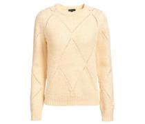 Pullover mit Rauten - Muster beige