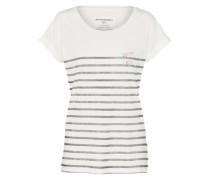 T-Shirt 'Liv I Wish' gold / weiß