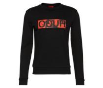 Sweatshirt mit Logo-Print 'Dicagos' rot / schwarz
