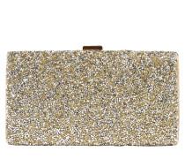 Clutch mit Glitter gold