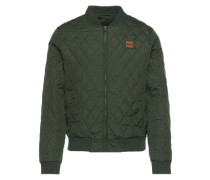 Diamond Quilt Nylon Jacket oliv