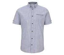 Blusen & Shirts Gemustertes Kurzarmhemd mit Brusttasche