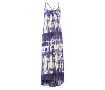 Maxikleid im Batik-Look blau / weiß