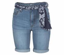 Jeansshorts blau / schwarz / weiß