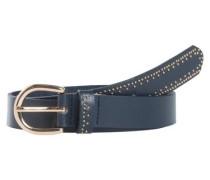 Leder Gürtel blau