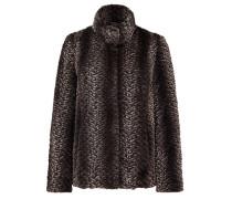 Edle Fake Fur-Jacke braun