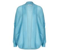 Cardigan aus Woll-Mix blau