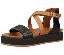 Sandalen schwarz / braun