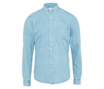 Casual Herrenhemd blue denim