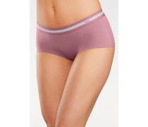 Hipster (3 Stück) mit sportlichen Bund grau / pflaume / rosa