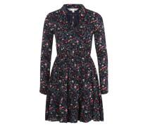 Kleid 'Floral printed' schwarz