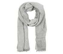 Großer Schal mit glitzernden Pailletten grau