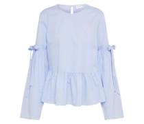 Bluse mit Schößchen hellblau