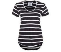 T-Shirt 'Scoop Neck' schwarz