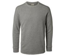 Rundhalsausschnitt-Sweatshirt rauchgrau