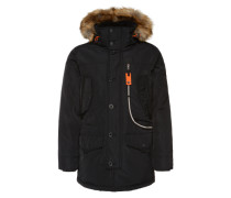 Winterparka 'snow coat with hood' schwarz