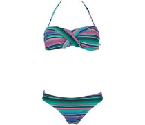Bikini grün / pink / schwarz