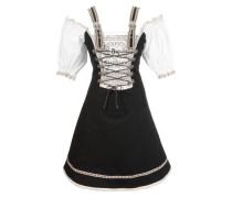 Trachtenkleid beige / schwarz / weiß