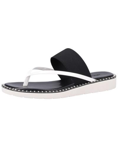 Pantolette schwarz / weiß