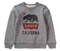 Sweatshirt für Jungen graumeliert / rot / schwarz