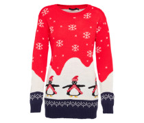 Pullover 'Willow Penguin Christmas' rot