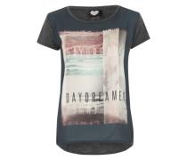 T-Shirt 'it's Daydreamers' dunkelgrau / mischfarben