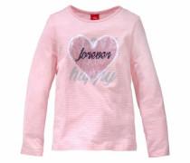 RED Label Junior Langarmshirt rosa / silber