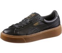 'Basket Platform Core' Sneaker schwarz