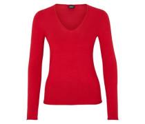 Softer Pullover mit Rollsaum rot