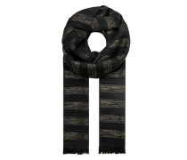 Lurex-Schal mit Streifenmuster gold / schwarz
