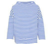 Sweatshirt 'Gesini stripe Ros' blau / weiß