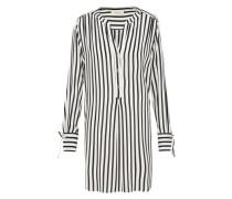 Long-Bluse schwarz / weiß