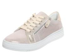 Sneaker mit Reißverschluss beige / gold