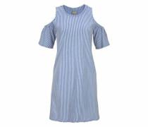 Jerseykleid 'laura' blau / weiß