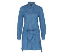 Denim-Kleid 'jericho TIE UP' blau