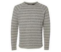 Crew Neck-Sweatshirt beige / grau