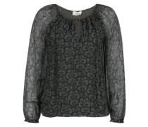 Bluse mit Carmen-Ausschnitt khaki / mischfarben
