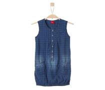 Denim-Kleid mit Karo-Print blue denim / dunkelblau