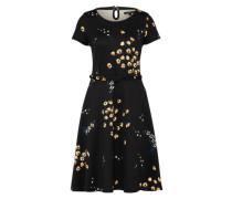 Kleid 'Betty' dunkelgelb / hellgrün / schwarz